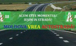 FOTO - VIDEO/ Moldova vrea autostradă. Şoferii gălăţeni au protestat la Guvern!