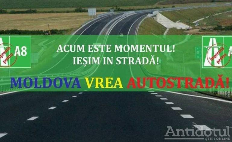 FOTO – VIDEO/ Moldova vrea autostradă. Şoferii gălăţeni au protestat la Guvern!