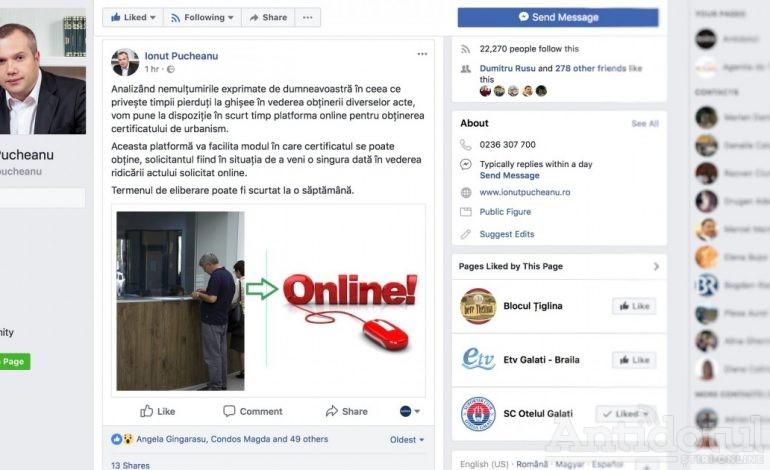 Din online-ul ghișeului. Pucheanu anunță că are de gînd să emită certificate de urbanism. Online și nu prea!