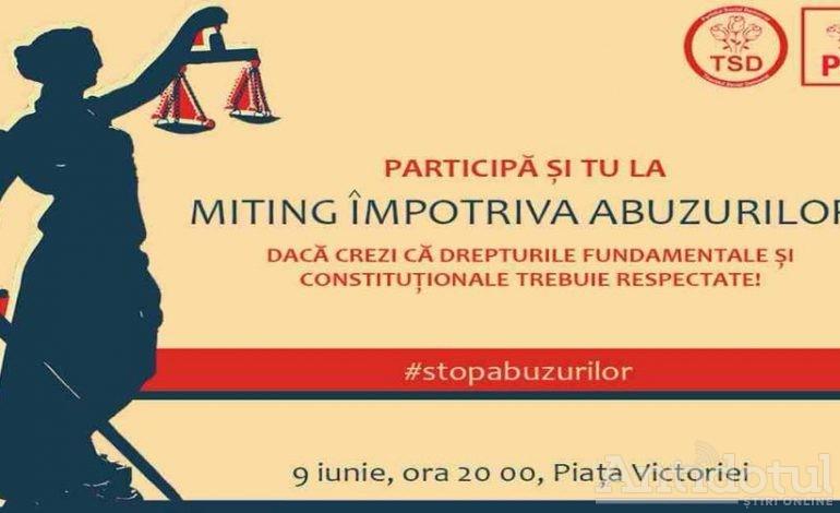 """Miting cu japca / Tineretul pesedist din Galaţi ne """"îndeamnă"""" la protest"""