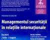 LA UNIVERSITATEA DANUBIUS PROGRAM DE MASTER UNIC ÎN ROMÂNIA - Managementul Securității în Relațiile Internaționale