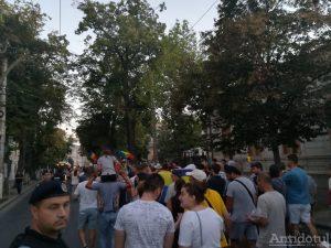 Gălățenii au protestat în stradă