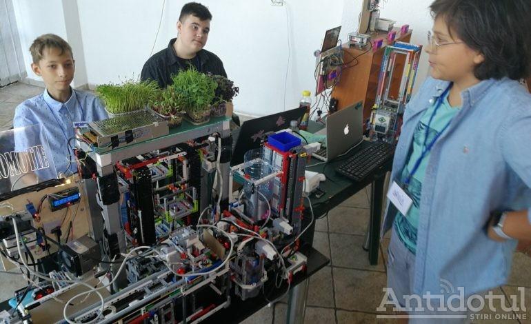 Weekend plin de roboţi la Grădina Botanică. Tehnologie inventată de cei mici!