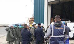 La Galaţi, ca în Germania: 38 de muncitori din Ucraina, descoperiţi fără forme legale pe un şantier naval din oraş