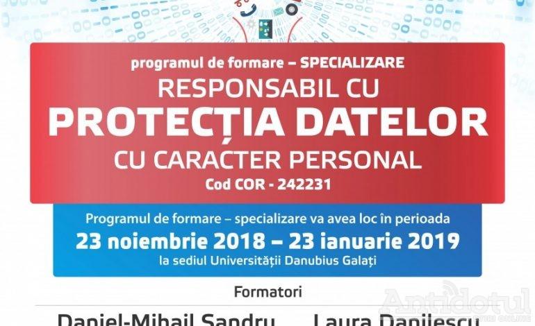 Universitatea Danubius organizează programul de formare cu specializarea: Responsabil cu protecția datelor cu caracter personal