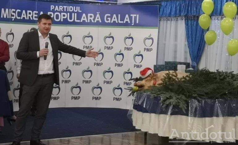 Politica porcului pe masă! Opoziția gălățeană, ocupata cu ignatul