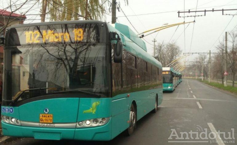 Autobuzele și troleibuzele din Galați sunt programate la duș: vor fi dezinfectate împotriva gripei