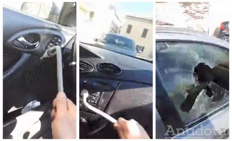 """VIDEO/""""Ia, Salvini, maşină. Ia!"""". Un brăilean şi-a făcut praf maşina în Italia, de faţă cu Poliţia!"""