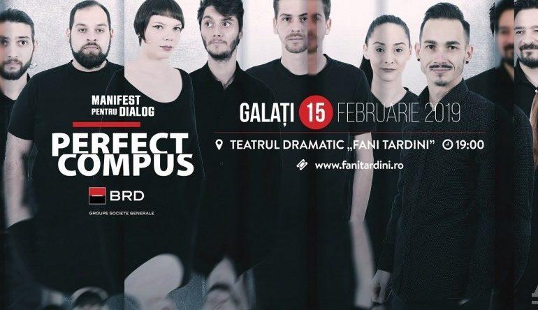"""Spectacolul """"Perfect compus"""" al Teatrului Național din Sibiu și două producții ale Dramaticului gălățean, în weekend la """"Fani Tardini"""""""
