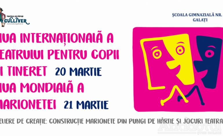 """Teatrul """"Gulliver"""" sărbătorește Ziua Internațională a Teatrului pentru Copii și Tineret (20 martie) și Ziua Mondială a Marionetei (21 martie)"""