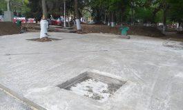 VIDEO/Verdele nu-i pe gustul edililor din Galați: printre copacii din parcul de la Spicu a fost turnat beton