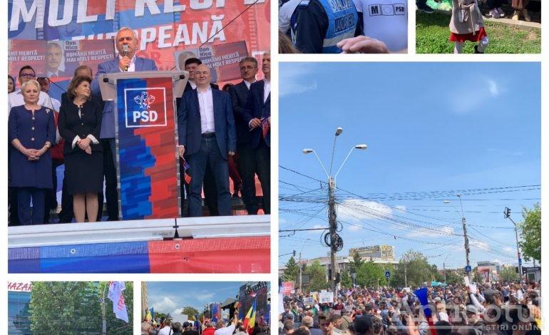 Video/Galerie foto La mitingul lui Dragnea circulația a fost dirijată de protestatarii de la #rezist