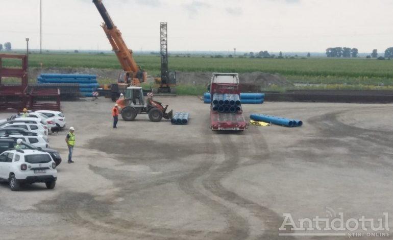 Accident de muncă la șantierul podului peste Dunăre de la Brăila