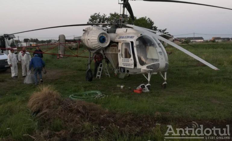 Dezinsecție cu elicopterul