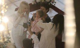 Imagini de la botezul fetiţei Elenei Udrea. Cine este naşa micuţei Eva Maria FOTO