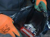 VIDEO Percheziție la Galați: polițiștii de frontieră au prins un contrabandist de motorină și țigări
