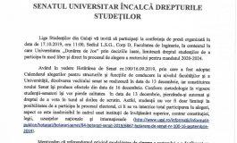 Senatul Universității, condus de pesedistul Lucian Georgescu, încalcă drepturile studenților