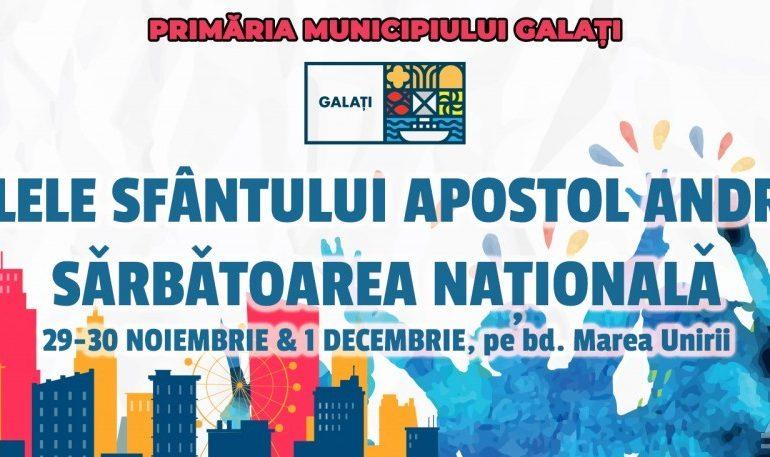 Programul manifestărilor de Ziua Sfântului Apostol Andrei și Ziua Națională a României
