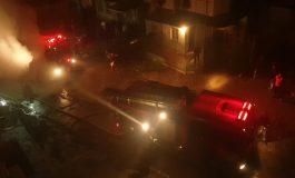 VIDEO Panică la G-uri. Pompierii au intervenit pentru a stinge un incendiu violent