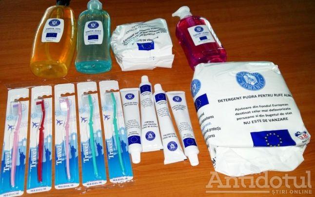 Pastă de dinți și săpun gratuite pentru săracii Galațiului