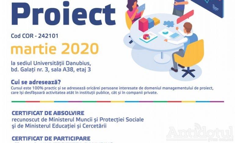 PROGRAMUL DE FORMARE – SPECIALIZARE PENTRU OCUPAȚIA MANAGER PROIECT (COD COR – 242101)