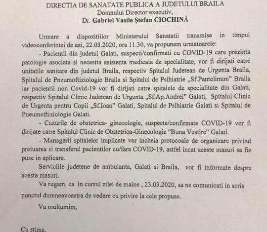 Asta ne mai lipsea: politicienii din Brăila au luat foc după ce au aflat că pacienții COVID-19 din Galați ar putea fi transferați la spitalele brăilene