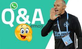 WhatsApp Q&A » Bogdan Andone a intrat în provocarea GSP și a răspuns prin emoticoane unor întrebări altfel