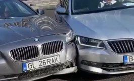 Amantlâc gălățean cu scandal și tamponări auto, filmat și difuzat pe Facebook
