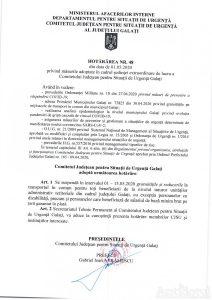 Hotararea nr. 48 CJSU 01.05.2020