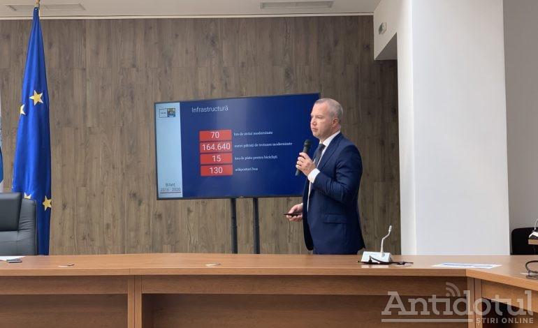 Primarul Ionuț Pucheanu și-a făcut azi bilanțul celor 4 ani de mandat. Și și-a dat nota 8,5!