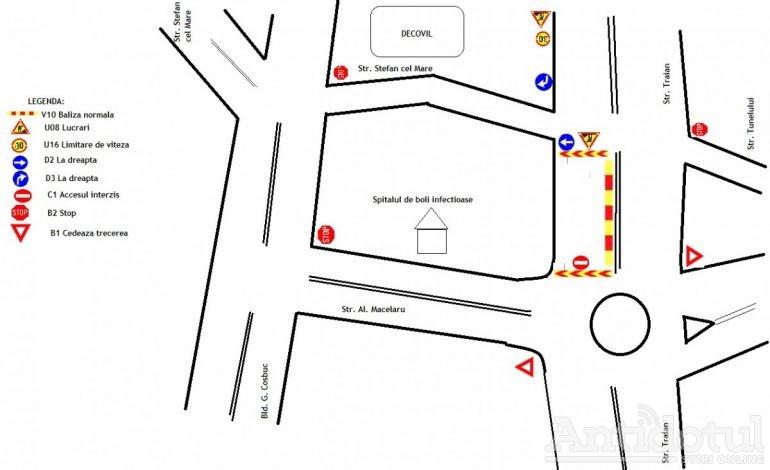 Restricții de trafic la intrarea în orașul Galați. Bariera Traian se închide