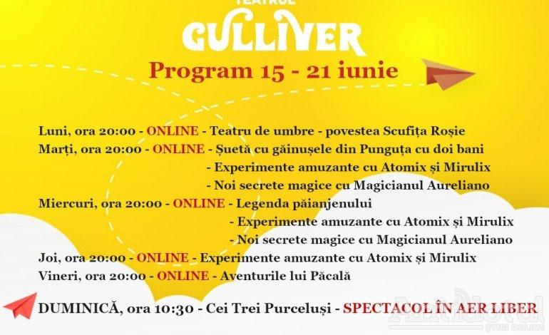 """O nouă săptămână cu poftă de joacă și chef de vacanță la Teatrul """"Gulliver"""""""