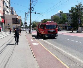 Un supermarket din orașul Galați era să sară în aer