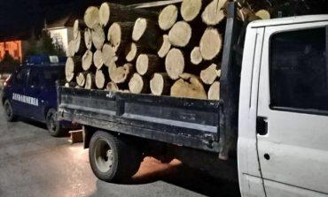 Transport ilegal de lemne, oprit de poliţişti. Cu cât a fost amendat şoferul