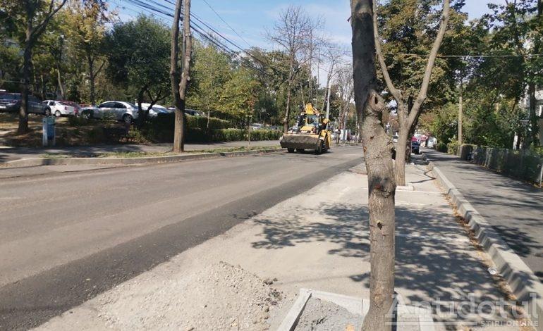 Lucrări și trafic îngreunat pe o stradă importantă a orașului Galați