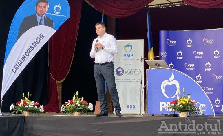 VIDEO/ Cătălin Cristache la lansarea candidaților PMP: uitați-i cum stau ca șobolanii, stau ascunși, niciunul nu are curaj să vină la o dezbatere