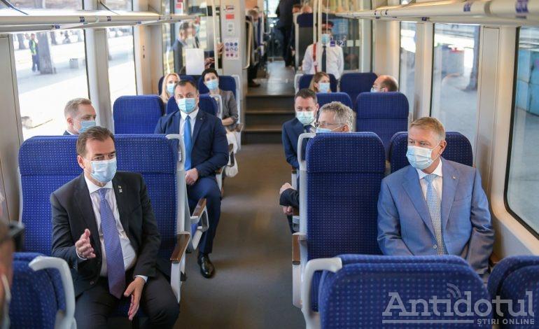 Infrastructură feroviară construită de Arcada Galați, testată de președinte și premier