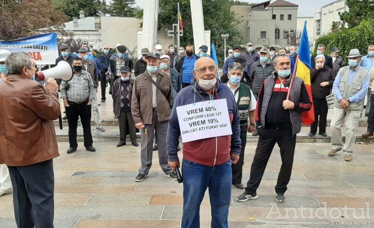 Deja vu electoral: pensionarii din Galați reîncep protestele și cer majorarea pensiilor