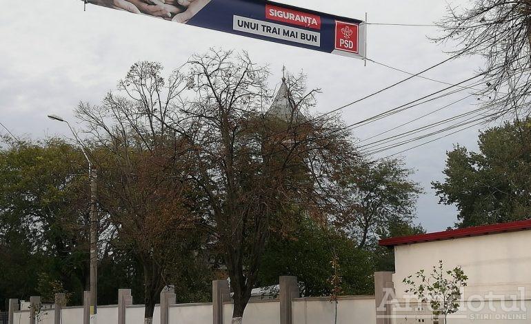"""Mesaj PSD, lângă gardul Penitenciarului: """"Siguranța unui trai mai bun"""""""