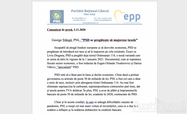 Pucheanu se pregătește să majoreze taxele, iar George Stângă critică… naiba știe ce critică