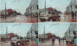 Un șofer face cascadorii pe strada Brăilei. Poliția îl caută ca să-l amendeze