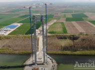 VIDEO/Se întinde sârma la podul peste Dunăre