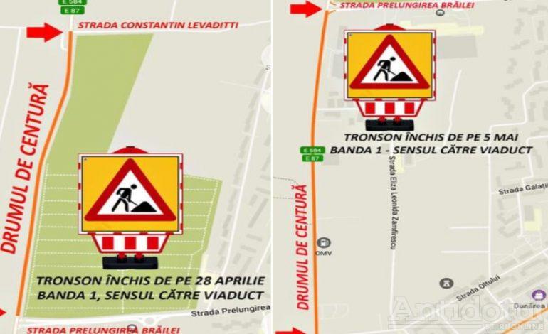 Restricții de trafic pe Drumul de Centură, începând de mâine