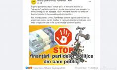Ipocrizie de AUR: contestă subvenția de milioane pentru partide, dar o încasează