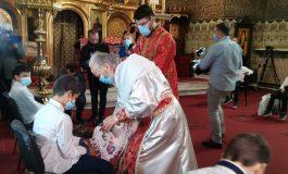 Din cauza pandemiei, în Joia Patimilor, la Galați a a avut loc ritualul spălării mâinilor