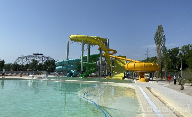 Imagini cu Plaja Dunărea care a crescut mare și s-a transformat în Aquapark