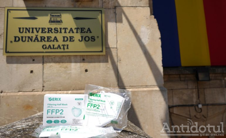 """Universitatea """"Dunărea de Jos"""" a primit o donație de 450.000 de măști de protecție"""