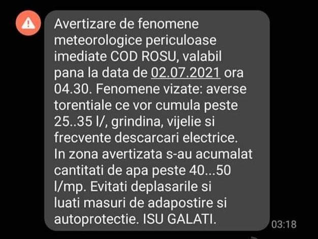 Eu, cetățean din Galați, solicit dezactivarea serviciului RO Alert