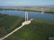 Ministrul Drulă se laudă cu jumătate de pod