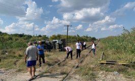 Accident grav la Foltești: un bărbat a murit după ce un tren a lovit în plin un excavator